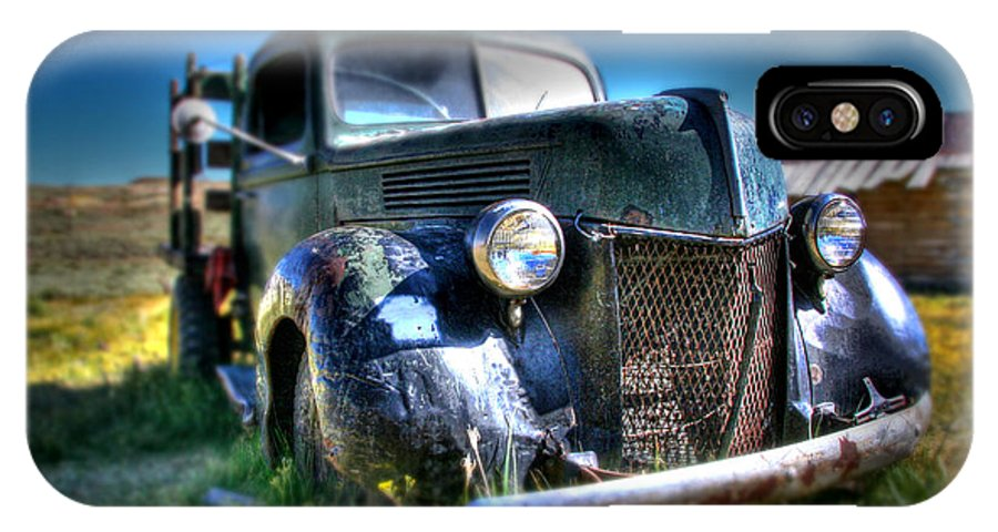 Hdr IPhone X Case featuring the photograph Old Truck At Bodie by Chris Brannen