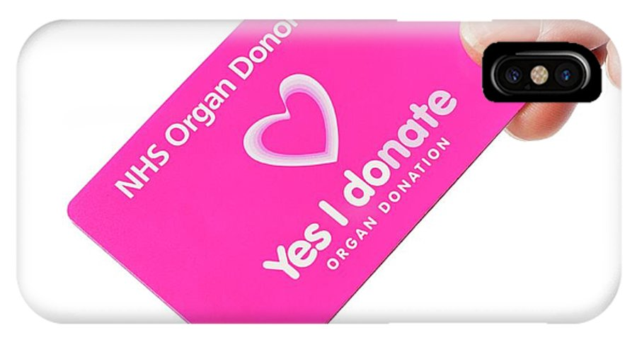 Donation IPhone X Case featuring the photograph Organ Donor Card by Cordelia Molloy