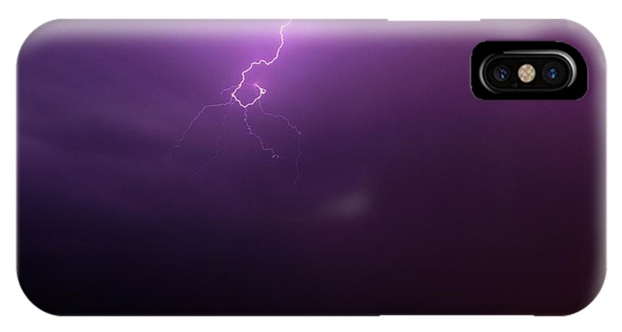 Stormscape IPhone X Case featuring the photograph Our 1st Severe Thunderstorms In South Central Nebraska by NebraskaSC