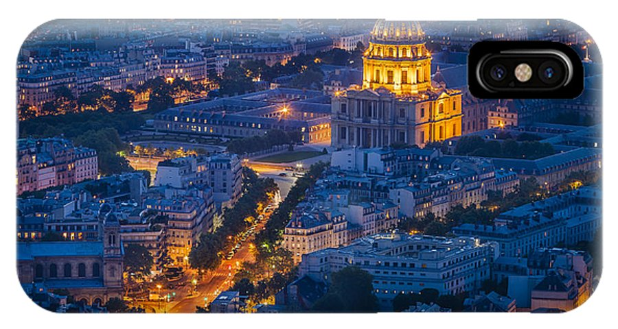Buildings IPhone X Case featuring the photograph Paris Overhead by Brian Jannsen
