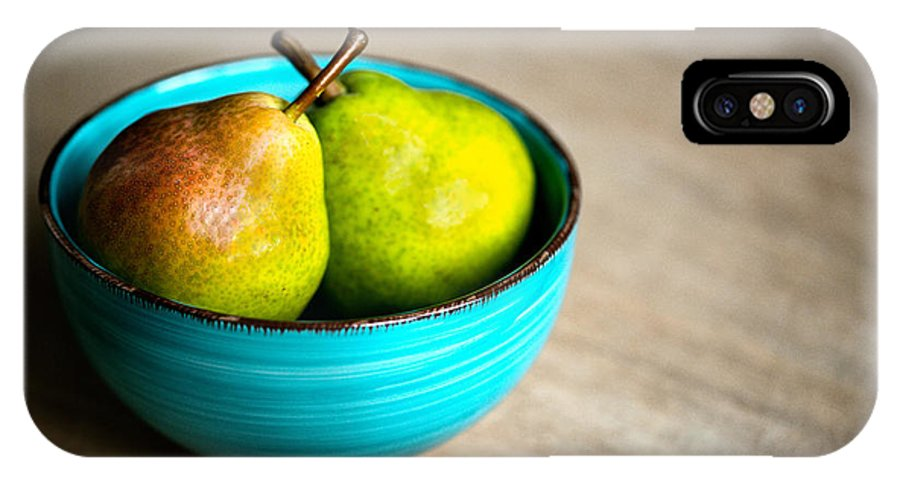 Pear IPhone X Case featuring the photograph Pears by Nailia Schwarz