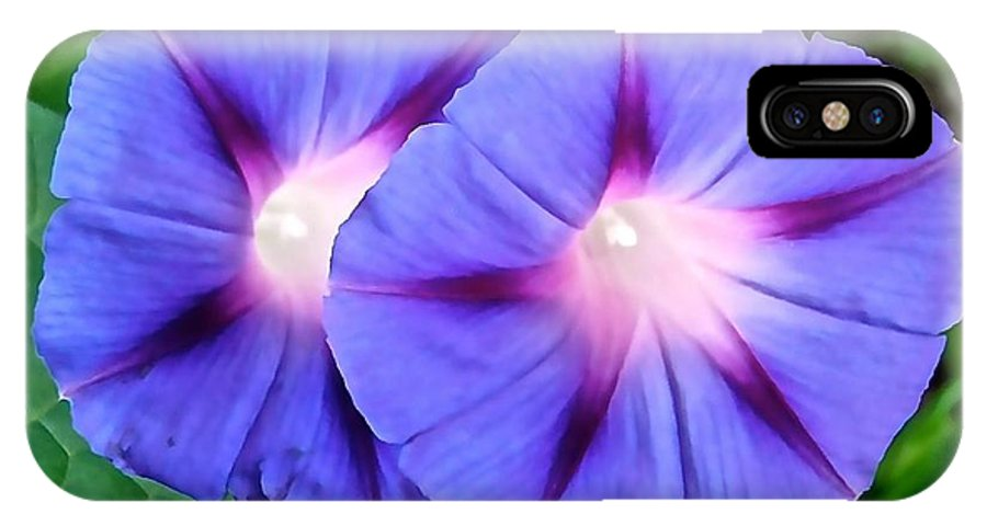 Flowers IPhone X Case featuring the photograph Purple Flowers by Stephanie Moore