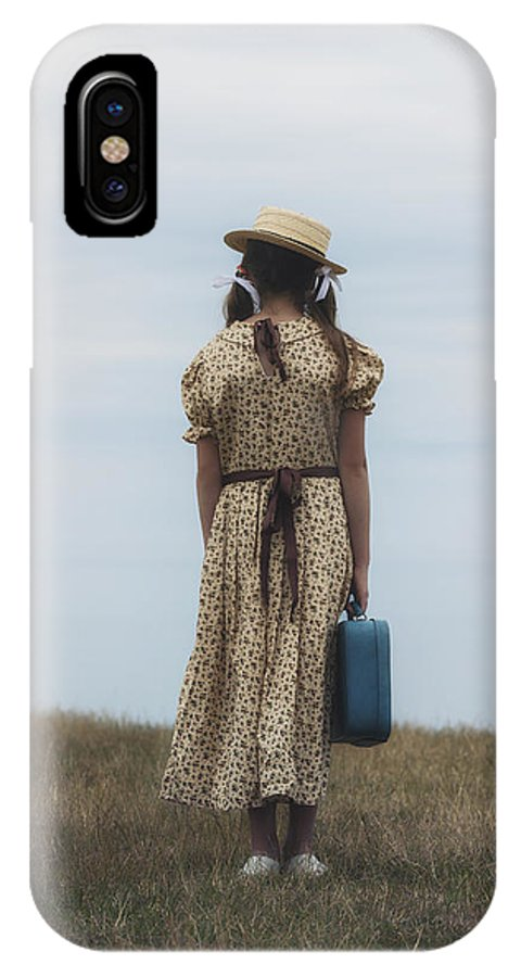 Girl IPhone X Case featuring the photograph Refugee Girl by Joana Kruse