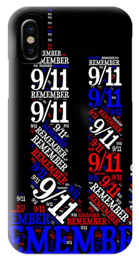 Twin IPhone X Case featuring the painting Remember 9-11 by Bruce Nutting