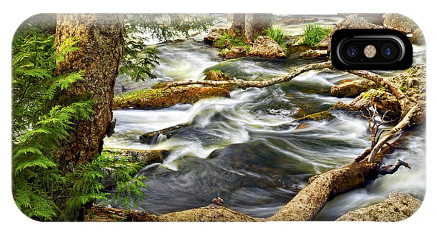 Water IPhone X Case featuring the photograph River Rapids by Elena Elisseeva