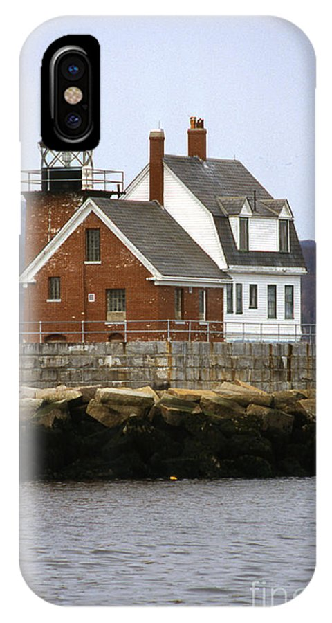 Maritime IPhone X Case featuring the photograph Rockland Breakwater Lighthouse by Skip Willits