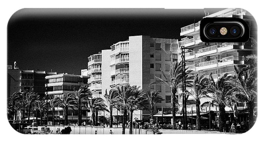Salou IPhone X Case featuring the photograph Salou Waterfront Properties On The Costa Dorada Catalonia Spain by Joe Fox