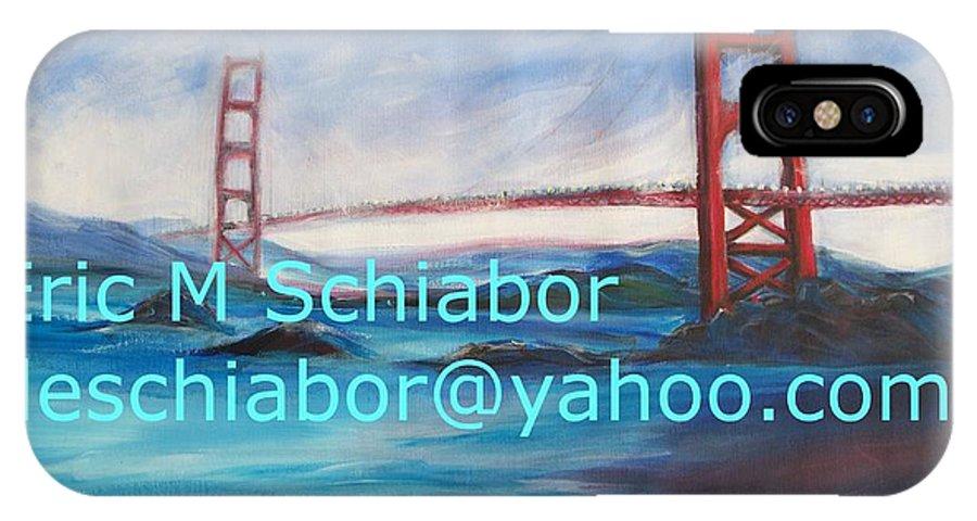 California Coast IPhone Case featuring the painting San Francisco Golden Gate Bridge by Eric Schiabor