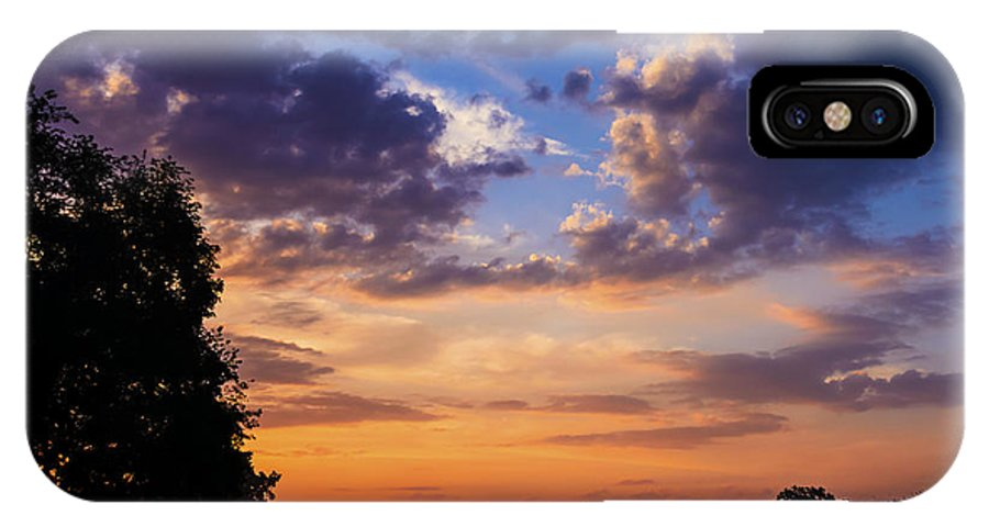 Sunrise IPhone X Case featuring the photograph September Mountain Sunrise by Thomas R Fletcher