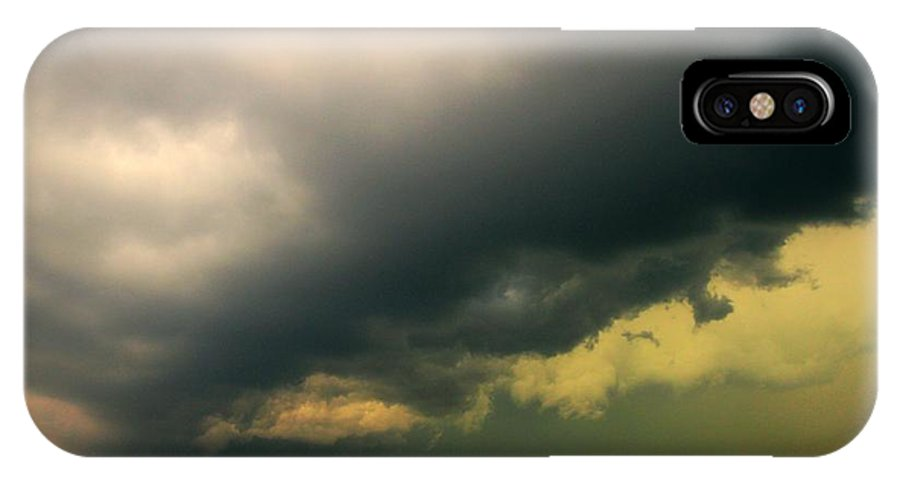 Stormscape IPhone X Case featuring the photograph Severe Cells Over South Central Nebraska by NebraskaSC