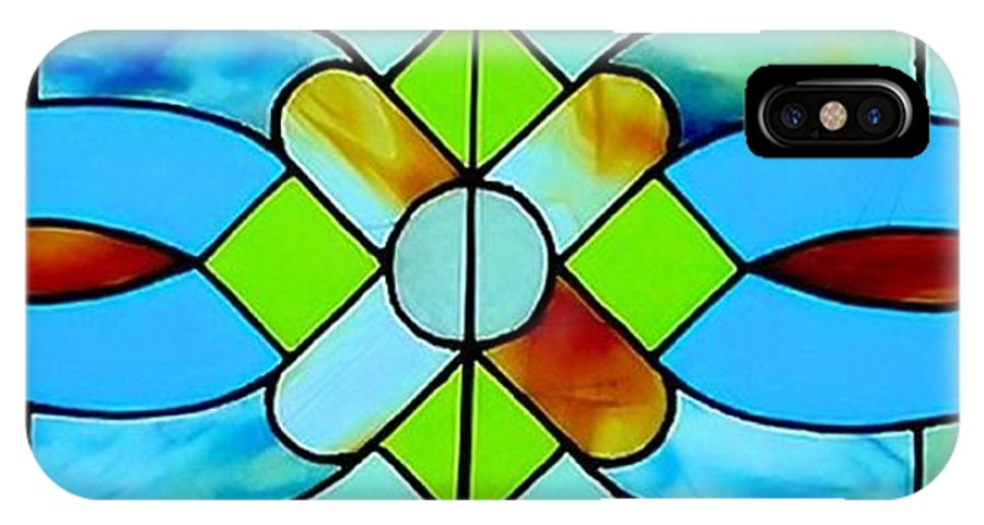 Stained Glass From Victorian House Photograph IPhone X Case featuring the photograph Stained Glass Window by Janette Boyd
