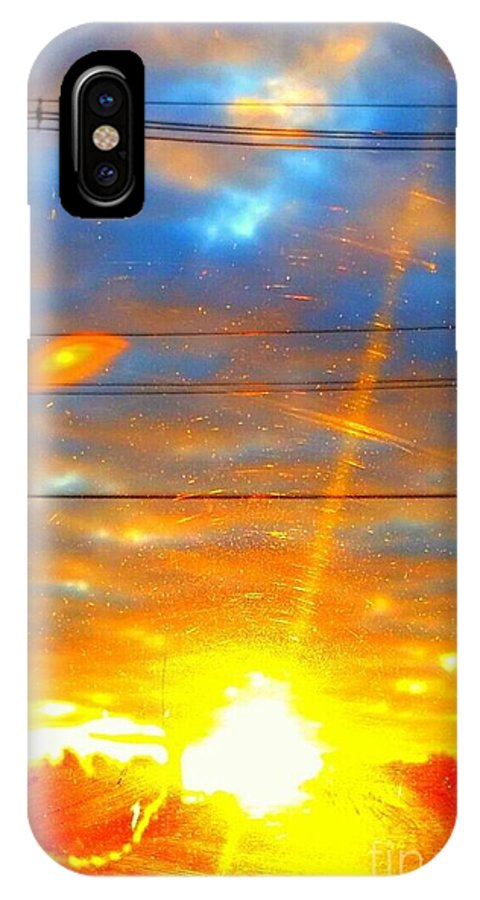 Sun Rise IPhone X Case featuring the photograph Sun Rise by Rose Wang