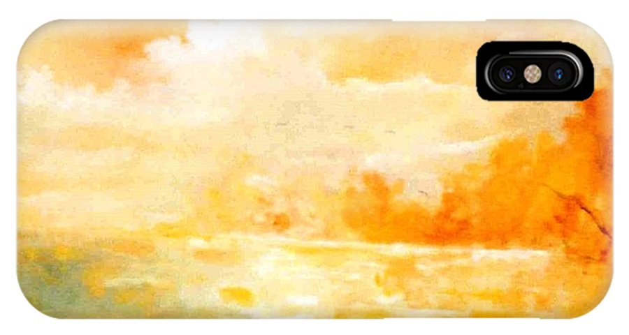 Lyle IPhone X Case featuring the painting Sunset by Lord Frederick Lyle Morris - Disabled Veteran