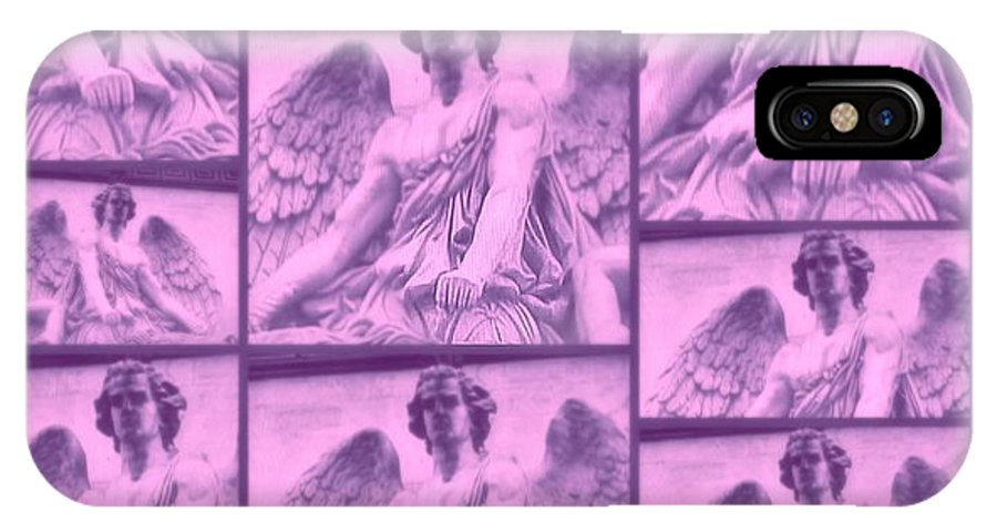 The Light IPhone X Case featuring the digital art The Angels by Meiers Daniel