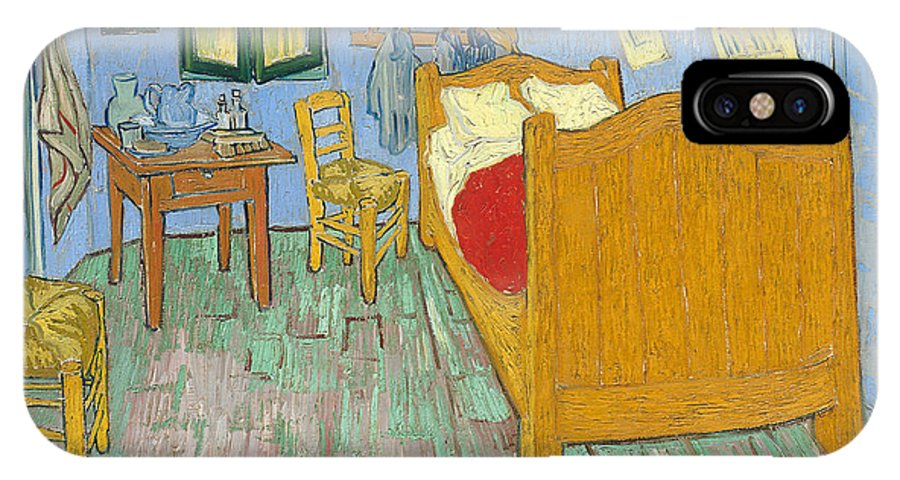 Vincent Van Gogh IPhone X / XS Case featuring the painting The Bedroom by Vincent van Gogh
