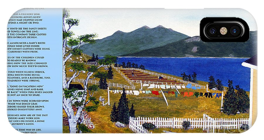 The Clothesline IPhone X Case featuring the painting The Clothesline by Barbara Griffin