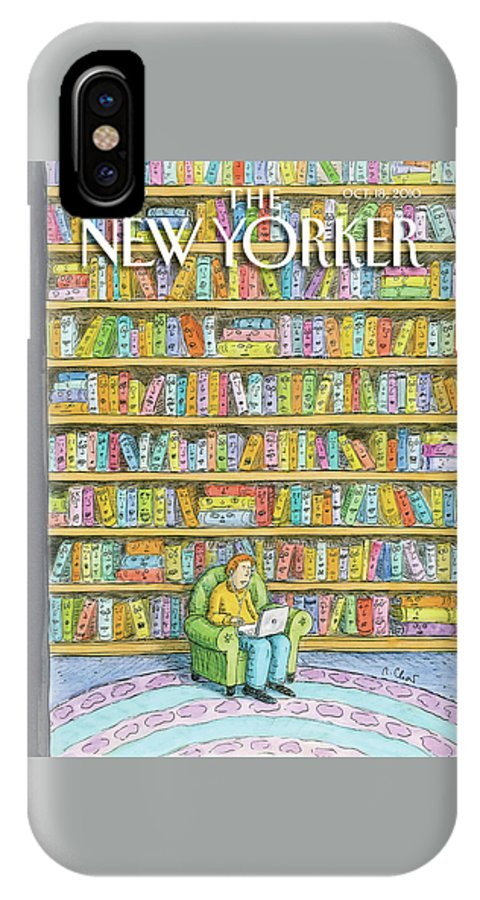 Computer IPhone X Case featuring the painting New Yorker October 18th, 2010 by Roz Chast