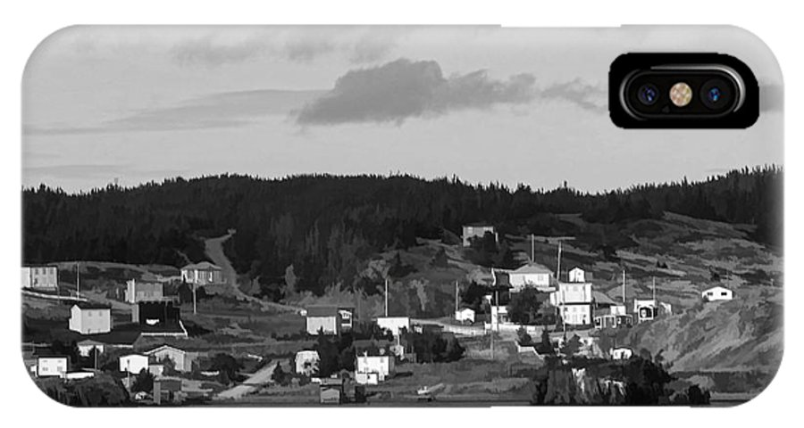 Village IPhone X Case featuring the photograph Village In Newfoundland by Les Palenik