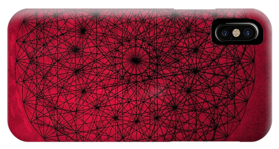 Jason IPhone X Case featuring the drawing Wave Particle Duality by Jason Padgett