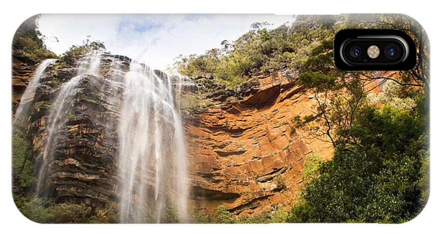 Australia IPhone X Case featuring the photograph Wentworth Falls Blue Mountains by Tim Hester
