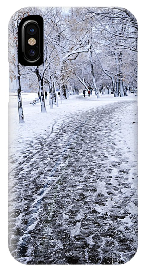 Winter IPhone X Case featuring the photograph Winter Park by Elena Elisseeva