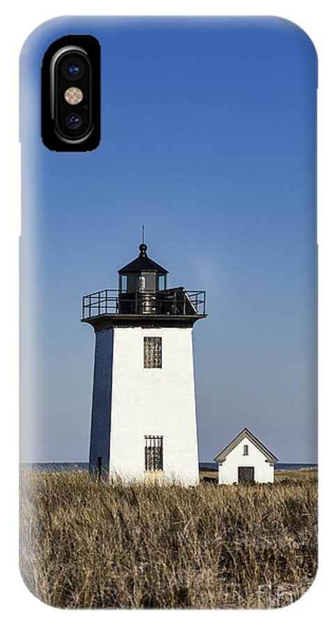 America IPhone X / XS Case featuring the photograph Wood End Lighthouse by John Greim