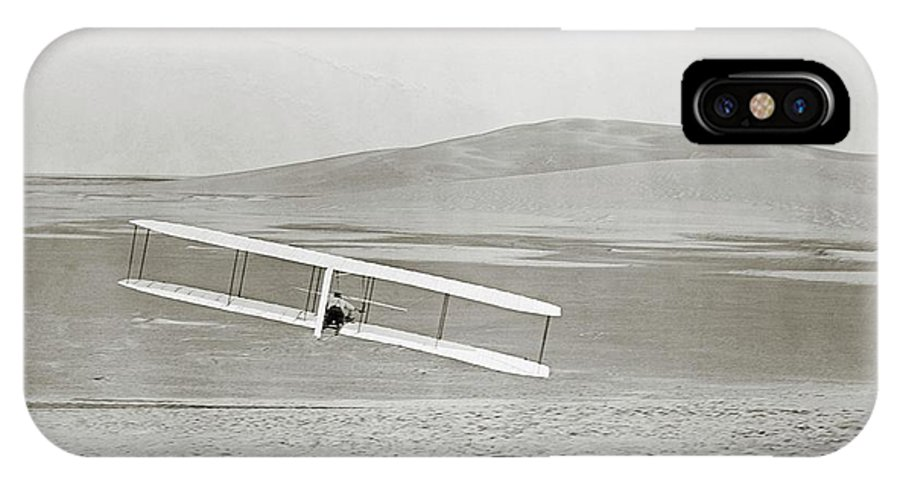 Wilbur Wright IPhone X Case featuring the photograph Wright Brothers Kitty Hawk Glider by Library Of Congress