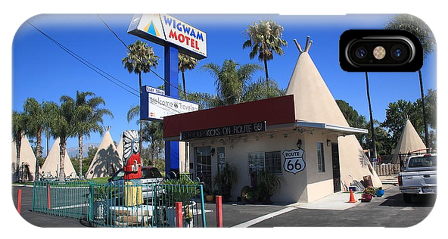 66 IPhone X Case featuring the photograph Route 66 - Wigwam Motel by Frank Romeo