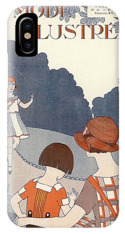 IPhone X Case featuring the drawing Untitled by