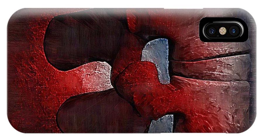 Chiropractor IPhone X Case featuring the digital art Lumbar Spine by Joseph Ventura