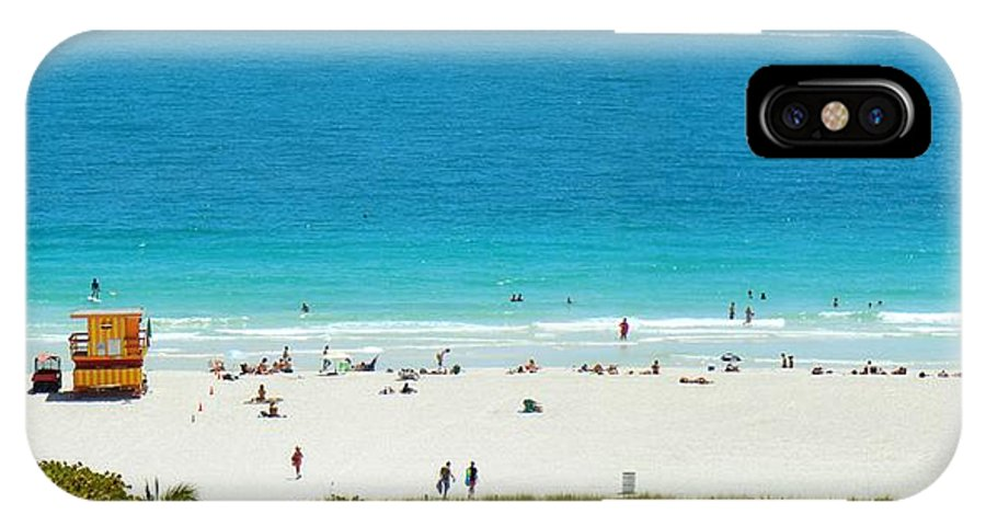 Ocean Drive IPhone X Case featuring the photograph 3rd Ocean Lifeguard by J Anthony