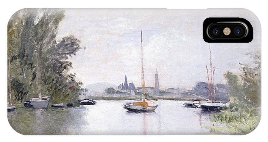 Monet IPhone X Case featuring the painting Argenteuil by Claude Monet
