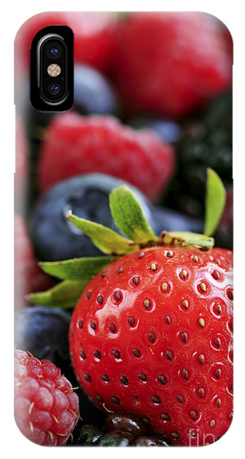 Berry IPhone X Case featuring the photograph Assorted Fresh Berries by Elena Elisseeva