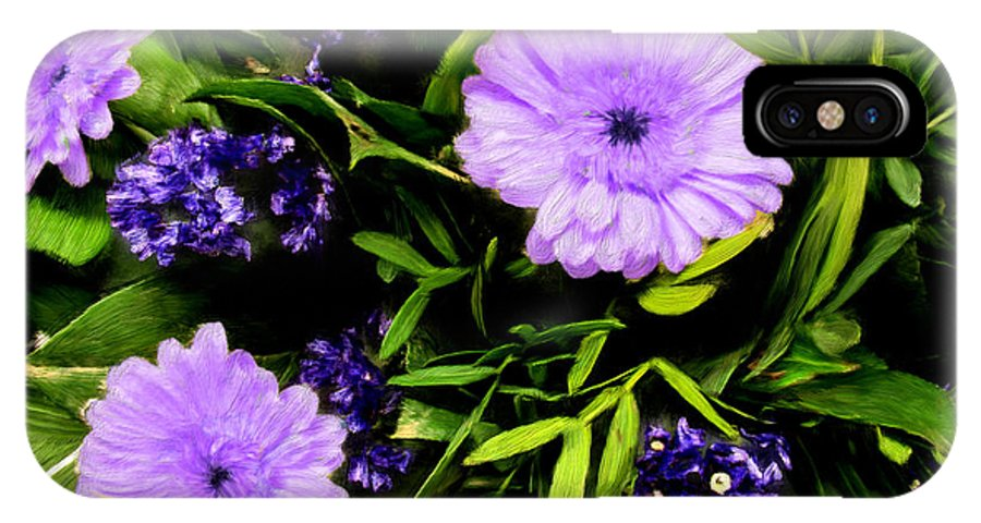 Garden IPhone X Case featuring the painting Beauty In The Garden by Bruce Nutting