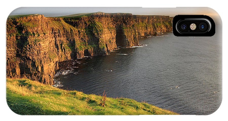 Ireland IPhone X Case featuring the photograph Cliffs Of Moher Sunset Ireland by Pierre Leclerc Photography