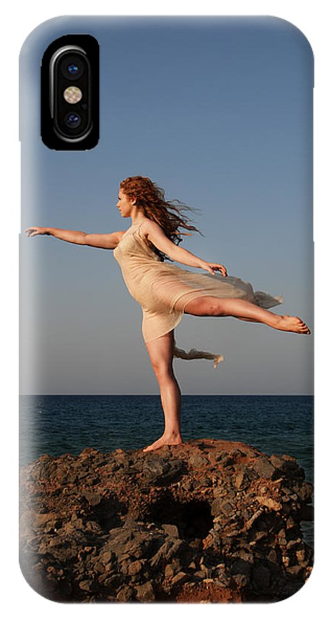 Ballet IPhone X Case featuring the photograph Dancing On The Rocks by Manolis Tsantakis