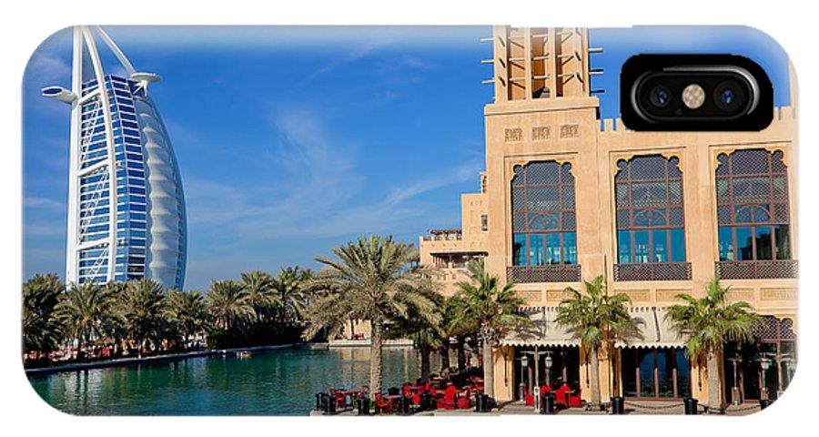 7 Stars IPhone X / XS Case featuring the photograph Dubai Skyline by Fototrav Print