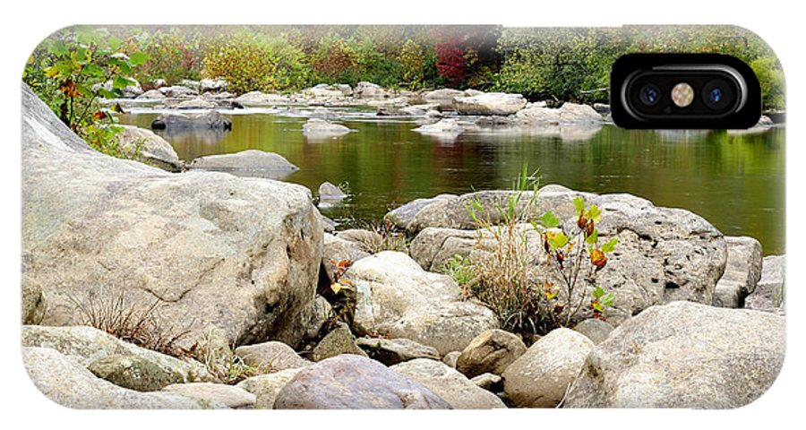 Cherry River IPhone X Case featuring the photograph Fall Along Cherry River by Thomas R Fletcher