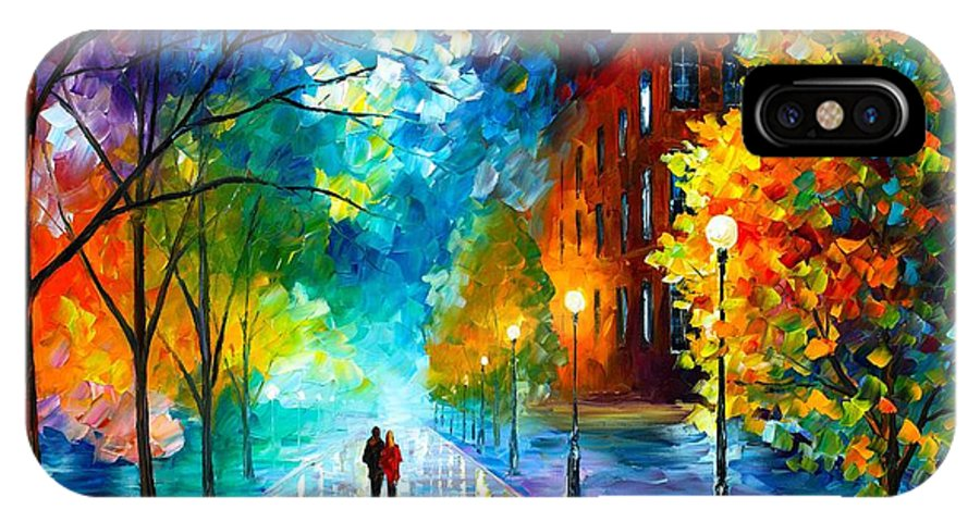 Afremov IPhone X Case featuring the painting Freshness Of Cold by Leonid Afremov