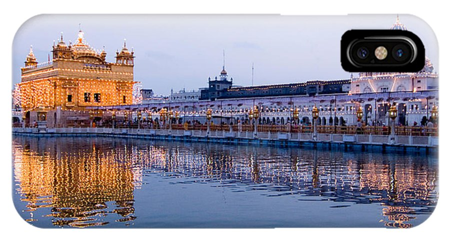 Golden Temple IPhone X Case featuring the photograph Golden Temple by Devinder Sangha