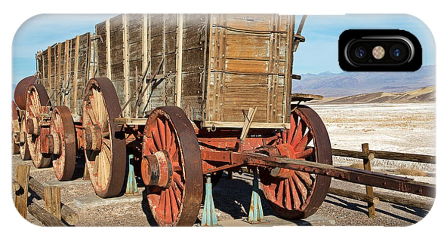 Amagosa Range IPhone X Case featuring the photograph Harmony Borax Works Death Valley National Park by Fred Stearns