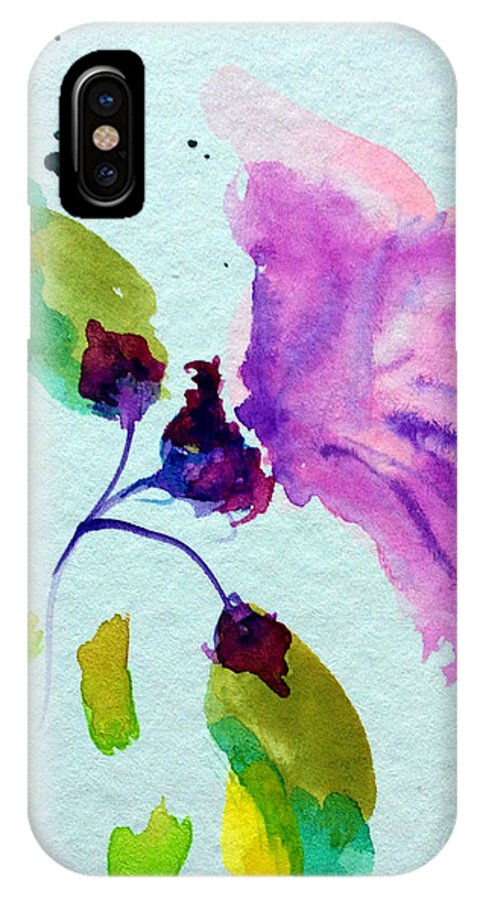 Hibiscus IPhone X / XS Case featuring the painting Hibiscus by Patricia Lazaro