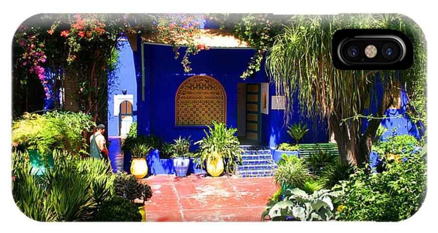 Majorelle Garden IPhone X Case featuring the photograph Majorelle Garden Marrakesh Morocco by Ralph A Ledergerber-Photography