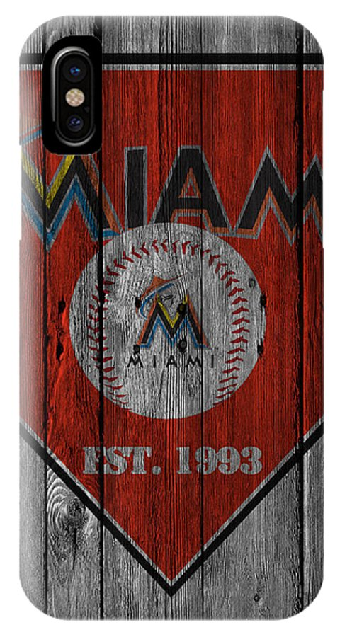 Marlins IPhone X Case featuring the photograph Miami Marlins by Joe Hamilton