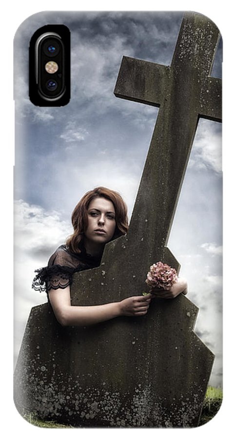 Girl IPhone X Case featuring the photograph Mourning by Joana Kruse