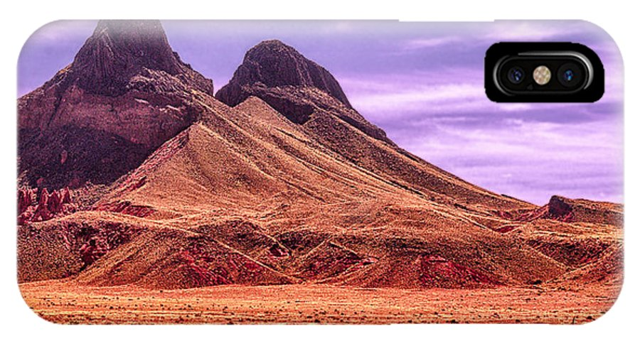 Arizona IPhone X Case featuring the digital art Navajo Nation Series Along 87 And 15 by Bob and Nadine Johnston