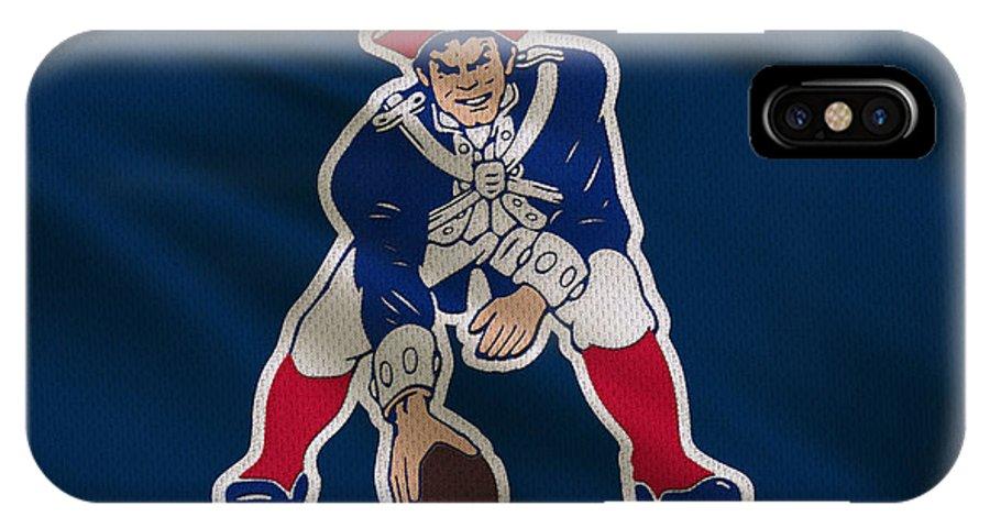 Patriots IPhone X Case featuring the photograph New England Patriots Uniform by Joe Hamilton