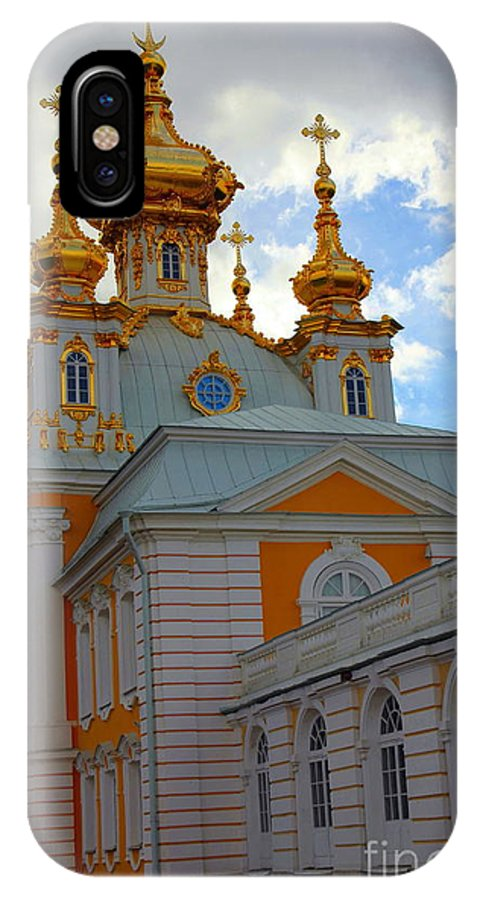Peterhof IPhone X Case featuring the photograph Peterhof Palace Russia by Sophie Vigneault