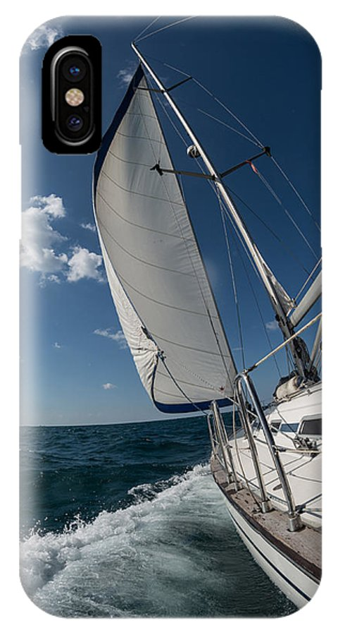 Sailing IPhone X Case featuring the photograph Sailing by Dobromir Dobrinov