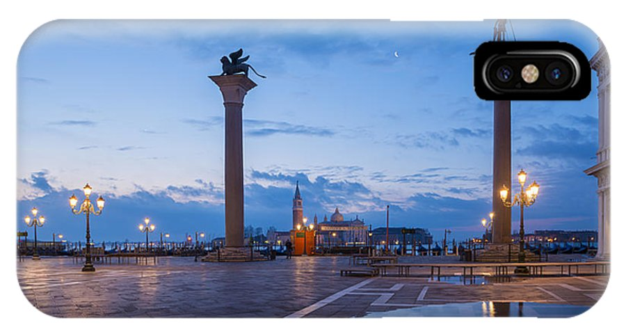Blue Hour IPhone X Case featuring the photograph St Mark's Square by Mats Silvan